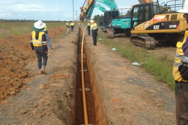 Bundaberg Port Gas Pipeline, Zinfra